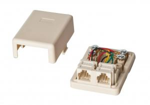 Cool Ivory And White Rj11 Network Keystone Jack 6P2C 6P4C Screw Wiring 101 Nizathateforg