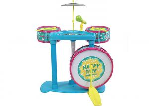 China Colorful Kids Musical Instrument Toys Jazz Drums With Cymbal And Microphone on sale