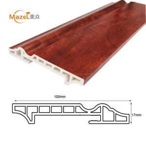 China 100mm interior decorative pvc flooring skirting on sale