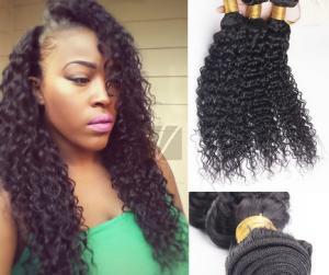 China Brown No Chemical 100%  Brazilian Curly Human Hair Extensions / Wet and Wavy Human Hair on sale