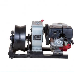 China 50KN Power Construction Gas Engine Powered Winch , 5 Ton Threading Machine on sale