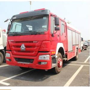 China 290 Hp Howo 4×2 Rescue Fire Truck With 8000kg Water Capacity Model SHMC5256 on sale