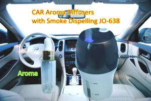 China Silver blue Mini Ultrasonic Atomization CAR Aroma Diffusers with Smoke Dispelling on sale
