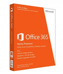 China Microsoft Office 365 Home Premium 1 Yr - (5 PC or Mac) on sale