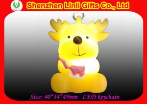 China personalised PVC Led flashing Christmas Keychain for Xmas party nice christmas decorations on sale