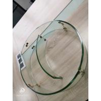 China Custom heat bent tempered glass 10mm diameter 500mm for grill quarter round shape on sale