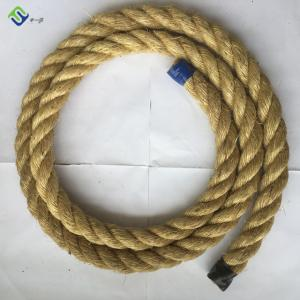 China 100% natural sisal rope 3 strand twisted hemp rope 4mm-40mm hot sale on sale