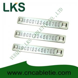 China Embossed Stainless steel tags on sale