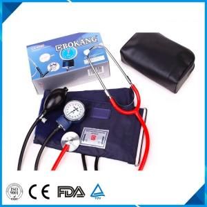 China BM-1115 Aneroid Sphygmomanometer with Dual Head Stethoscope, without mercury,home and hospital use best seller on sale