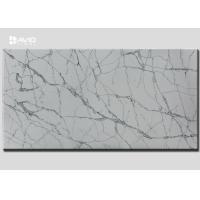 Grey White Color Quartz Stone Slab SGS Passed For Kitchen Countertop