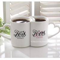 ceramic / porcelain couple mugs,  lover cups,  kiss mugs