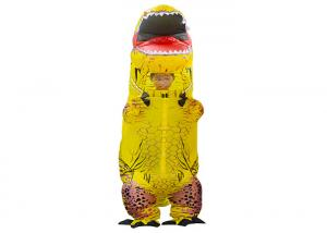 China Yellow Dinosaur Costume Inflatable Kids Toys with Waterproof Polyester Fabric on sale