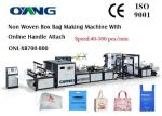 High Efficiency Automatic Non Woven Box Bag Making Machine