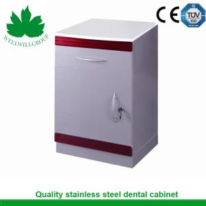 China SSU-04 fixed 1 drawer 1 door medical drawers stainless steel hospital furniture cabinet on sale