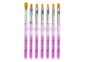 China Customized Logo Private Label Nail Art Brushes Acrylic UV Gel Nail Polish Brush on sale