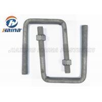 OEM Steel MS Gr4.8 High Tensile Custom Fasteners Gr8.8 Square Bend U Shaped Bolts M16 Diameter