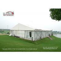 Aluminum Frame Glass Walls Luxury Wedding Tents Wooden Flooring System