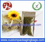 9cm  x 16 cm Food Packaging Bags 3 Side Seal Zipper Pouch waterproof
