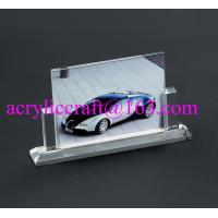 Wholesale handmade glass souvenir photo picture frames clear acrylic photo stand