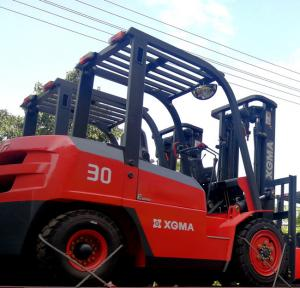 China Hydraulic Powerful Warehouse Lift Truck 3000kg With High Strength Overhead Guard on sale