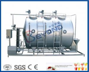 China Small Conjunct Type 500LPH CIP Cleaning System For Milk Dairy Industry on sale
