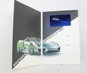 China LCD の音モジュールが付いている印刷物のパンフレット、充電電池の昇進のビデオ on sale