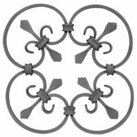 China Wrought Iron Elements/ Ornaments/parts  for balusters and gates decorative -- Cast iron grapes leaves on sale