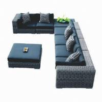 China Wicker rattan sofa sets, hotel/patio/club use, aluminum frame, UV-resistant on sale