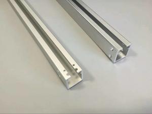 China CNC Machining Hole Aluminium Channel Profiles with Matt Silver Anodizing on sale