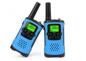 China Durable Dual Band Kids Walkie Talkie Blue Color With Noise Cancelling Function on sale