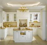 modular kitchen designs,kitchen supplies from China,solid wood door panel,white kitchen cabinets image