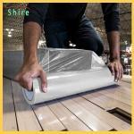 Heavy Duty Hard Floor Protection Film Roll 25M X 500MM Easy Peel Off