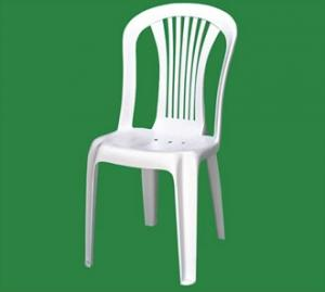 China white Plastic Chair without arm on sale
