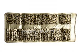 China Large Capacity Leopard Pattern  Makeup Brush Roll Bag Pen Holder Case Handy Clutch on sale