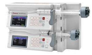 China Medical Double Channel High Pressure Syringe Pump , Portable Infusion Pump on sale