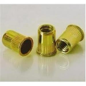 China standard- yellow zinc painted-carbon steel small head rivet nuts on sale
