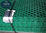 PVC Coated Safety Mesh Fence Green Color High Strength To Guard Against Theft