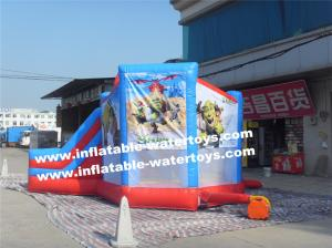 China Shrek Commercial 0.55mm PVC Tarpaulin Inflatable Water Trampoline Combo Bouncer on sale