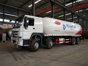 China Sinotruk LP Gas Transport Truck , 34.5cbm Howo 15mt 18ton Propane Service Truck on sale