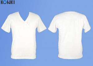 China Cotton Plain White T Shirt  V Neck T Shirt Printing For Man and Women on sale