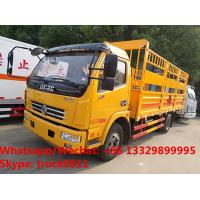Factory sale high quality Cheapest price Dongfeng 4x2 6ton gas cylinder transport truck, gas canister carrying vehicle