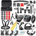 60 dans 1 kit combiné d'accessoires pour l'argent noir de session du héros 4/3+/3/2/1 de Gopro, pour le lot d'accessoires de caméra de Gopro