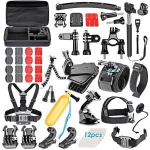 China 60 in 1 Accessories Combo Kit for Gopro Hero 4/3+/3/2/1 Session Black Silver, for Gopro Camera Accessories Kit on sale