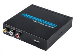 China Flexible HD VGA Video Converter , CVBS to HDMI Converter Support PAL / SECAM on sale