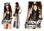 White Tiger Adult Halloween Costume , Deluxe Fancy Dress Costumes For Dancing