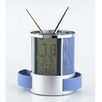 China 2013 New Wood Corporate Gifts Clocks , Pen Holder Shape with Calendar on sale