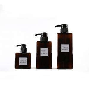 China Black PETG Plastic Shampoo Bottles , Skin Care Pump Container Bottle on sale