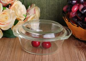 China Pyrex Glass Tableware Clear Glass Oven Bowls with Lid , 4 Sizes Heat Resistant Eco-friendly on sale