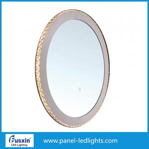 Quality Circle Cosmetic round lighted makeup mirror Customized Logo Available for sale