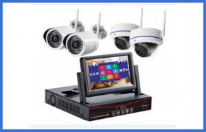 China 7Inch Monitor Wireless CCTV Camera Kits , Waterproof Dome Bullet IP Camera on sale